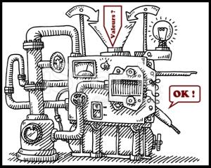 Machine à évaluer les valeurs.